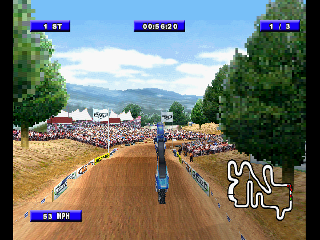 Screenshot Thumbnail / Media File 1 for Championship Motocross 2001 - Ricky Carmichael [U]